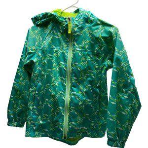 LL BEAN Full-Zip Hooded Rain Jacket Mesh-Lined